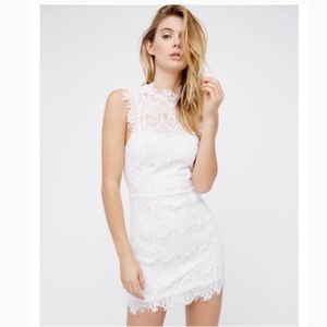Free People Daydream Open Back White Lace Dress